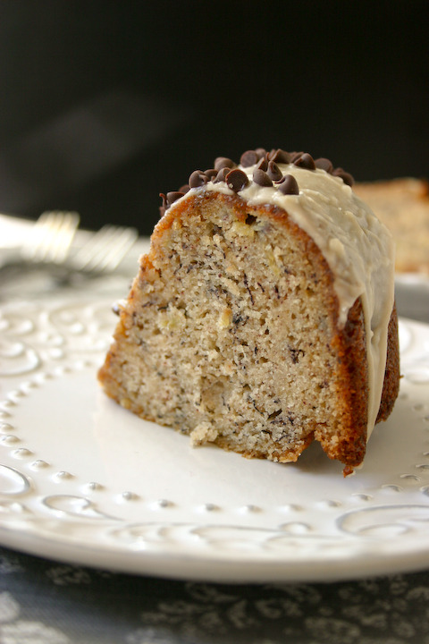Buttermilk Banana Bundt Cake with Brown Butter Icing