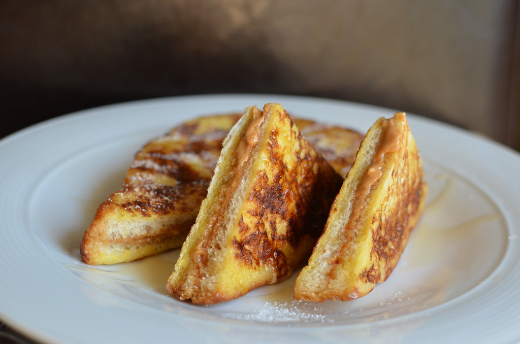 Peanut Butter Stuffed French Toast