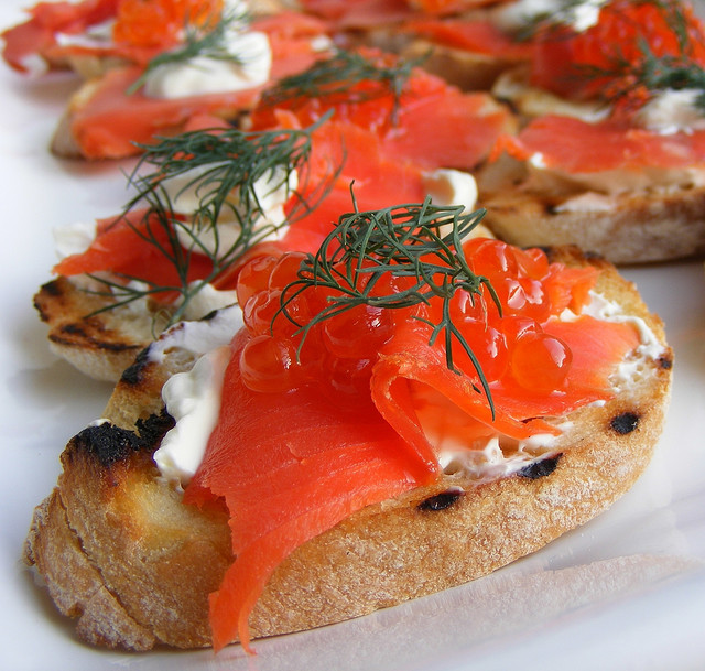 Smoked Salmon Canape by FotoosVanRobin on Flickr.