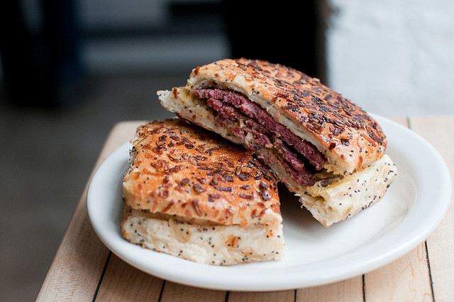 Mile End Salami sandwich by smoothdude on Flickr.