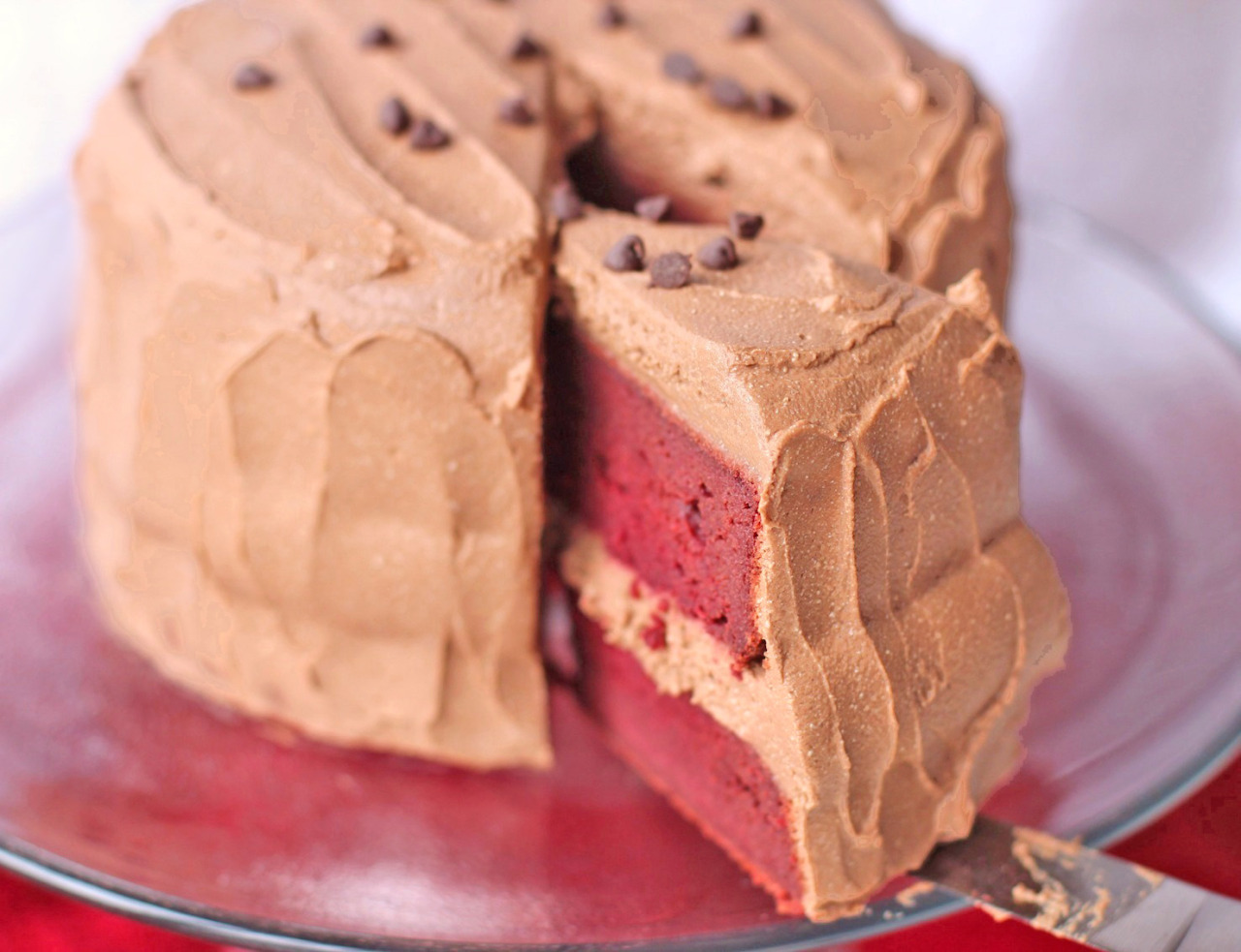 Recipe: Vegan Red Velvet Cake with Chocolate Mousse Frosting
