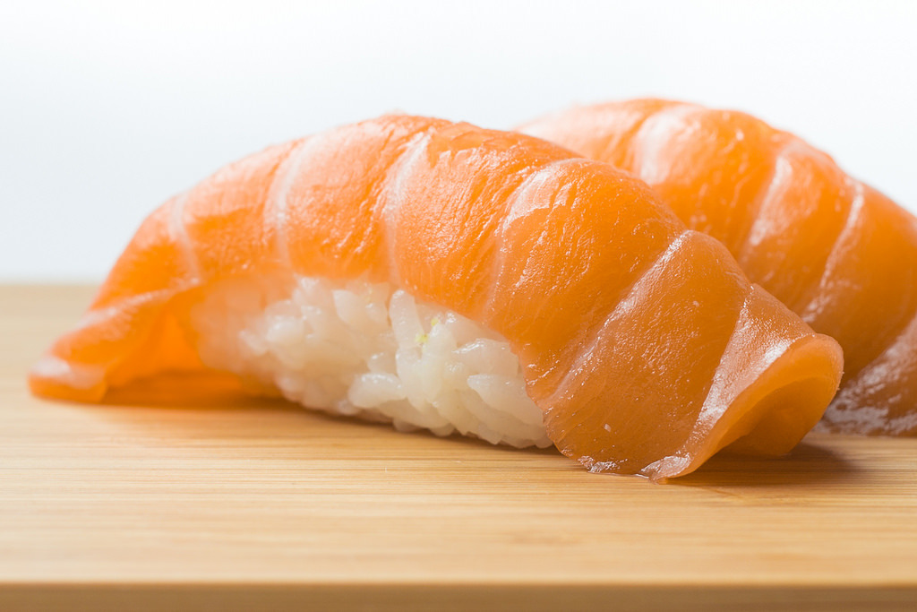 Salmon Sushi Nigiri (by The Gaff Photo)