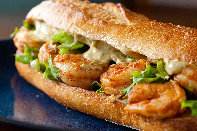 Spicy Shrimp Sandwich with Chipotle Avocado Mayonnaise by rkazda on Flickr.