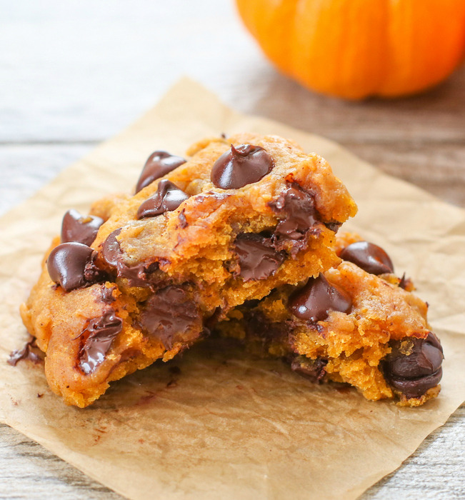 Microwave Pumpkin Chocolate Chip Cookie