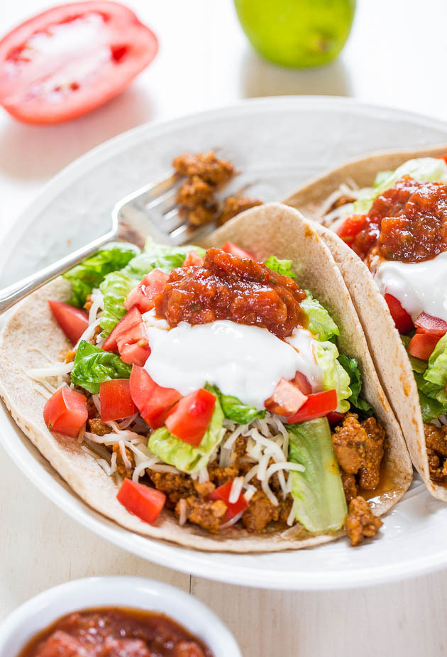 Healthy Vegan Beefy Tacos